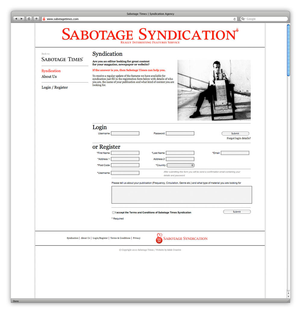 AndAndAnd Creative Sabotage Times 08 Syndication Home
