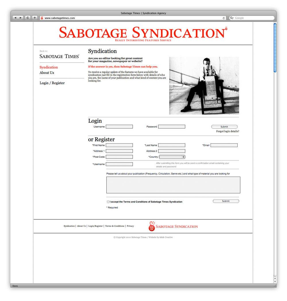 AndAndAnd Creative Sabotage Times 08 Syndication Home