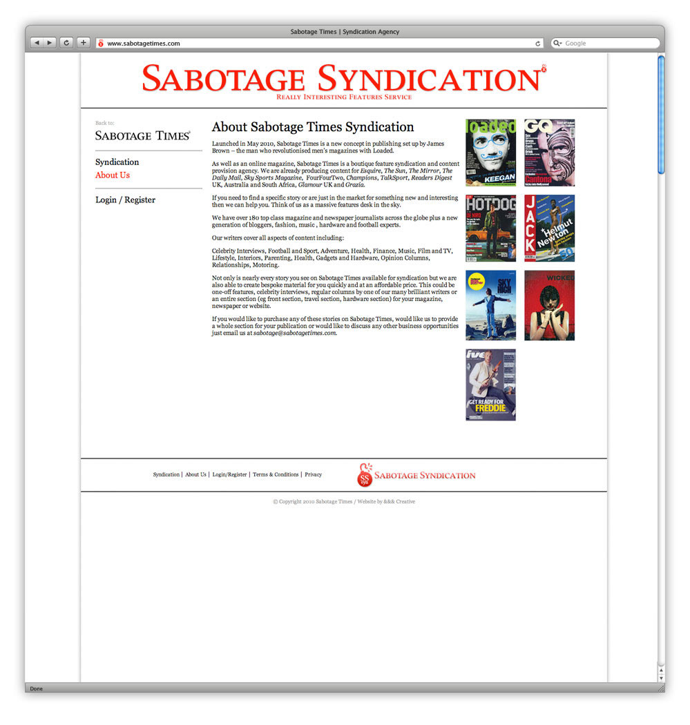 AndAndAnd Creative Sabotage Times 09 Syndication About