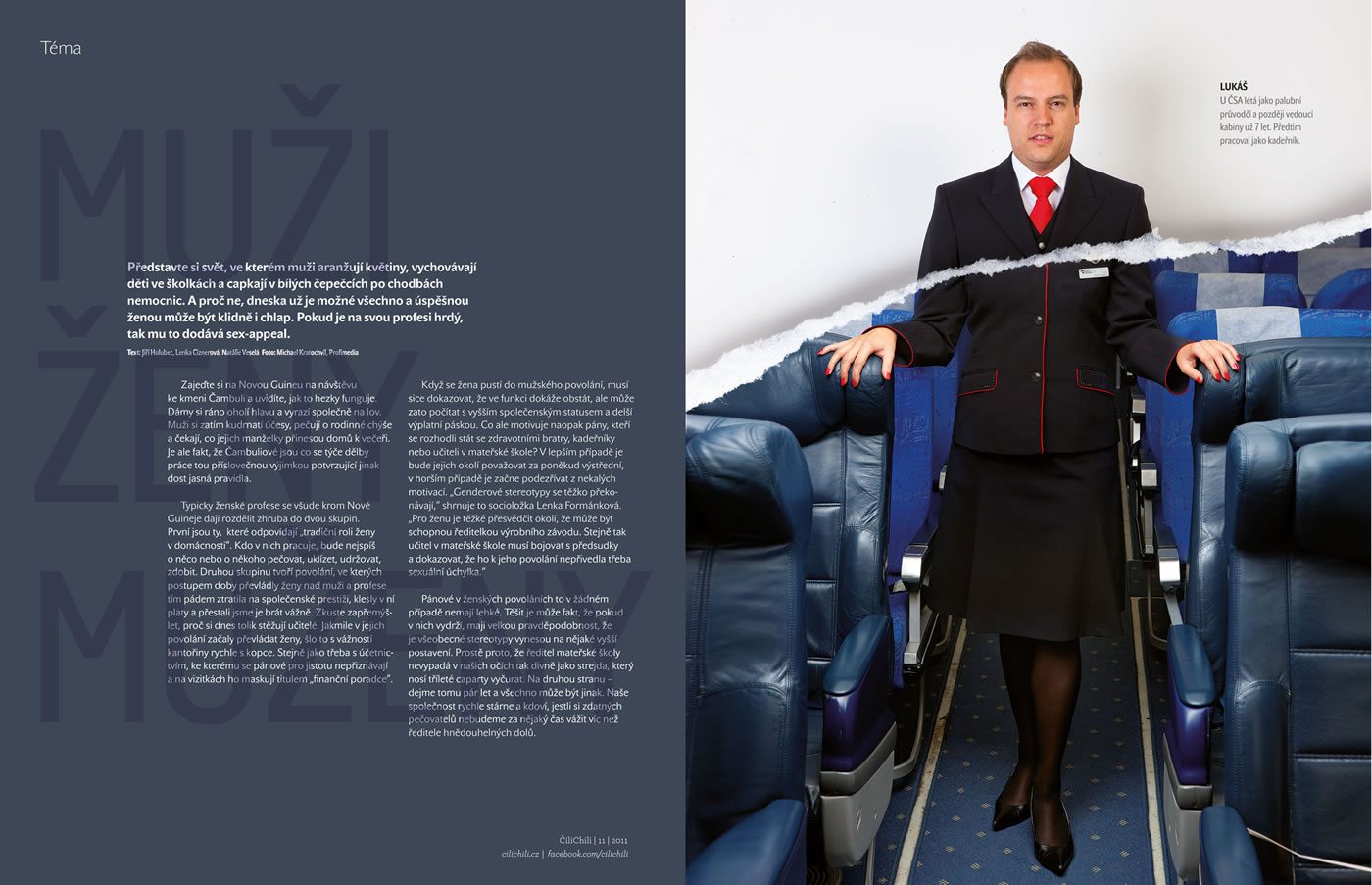vodafone s customer magazine cilichili men in women s role issue andandand creative men in womens jobs issue 01