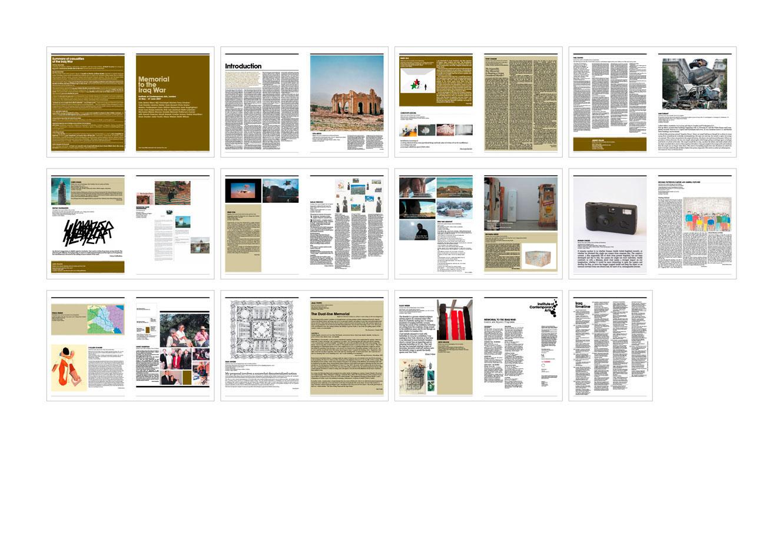 ... ICAMemorialToIraqWar AndAndAnd Creative ICA Memorial To The Iraq War Catalogue 00.