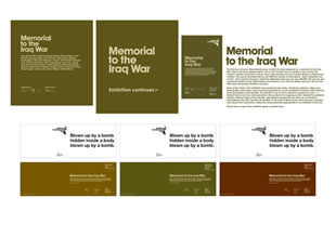Institute of Contemporary Art - Memorial to the Iraq War signage and invites
