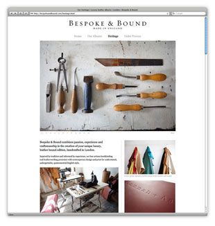 Bespoke & Bound Website