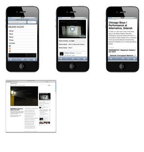 Helene Kazan Website iPhone Version