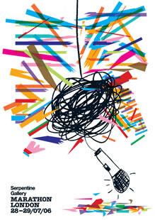 Serpentine Gallery 24hr Marathon London: Rem Koolhaas, Pavilion   Poster