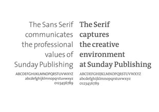 Sunday Publishing Typography