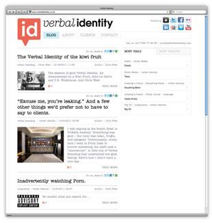 Verbal Identity: Website